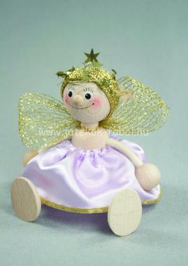 Lila ruhás angyalka