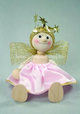 Rózsaszín ruhás angyalka