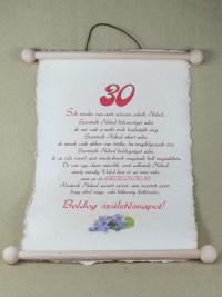 30. születésnapra
