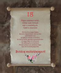 szülinapi köszöntő 18 éveseknek Születésnapra | Pipitér Ajándék fatárgyak.hu Webáruház szülinapi köszöntő 18 éveseknek