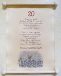 20. születésnapra