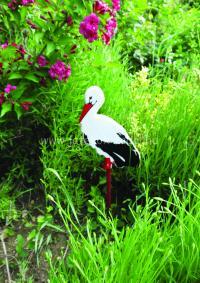 Kerti kitűző - közepes gólya